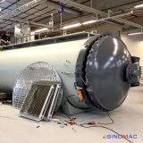 autoclave de composés de chauffage de vapeur de 2000X8000mm pour traiter des pièces de cubage