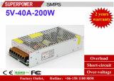 Schaltungs-Stromversorgung des LED-Fahrer-5V 40A 200W für LED-Bildschirm