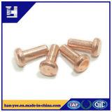 銅は平らなヘッド半管状の鋼鉄リベットをめっきした