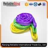 Imbracature di sollevamento rotonde del poliestere per la strumentazione di sollevamento
