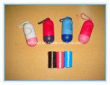 Produits d'entretien d'animal familier, sac biodégradable de dunette de crabot de sac de perte de crabot avec le sac de dunette de crabot de distributeur/cordon