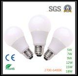 Fabricante de la intervención del SGS de la alta calidad del bulbo de la garantía LED de 3 años