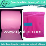 Película colorida da embalagem do PE da permeabilidade proeminente para almofadas do guardanapo sanitário