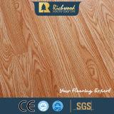 Revestimento laminado gravado comercial do parquet da noz madeira estratificada de madeira