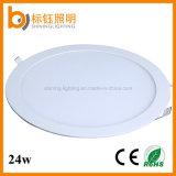 iluminação de teto Ultrathin magro redonda da lâmpada da luz de painel do diodo emissor de luz de 24W China Por atacado Companhia para baixo