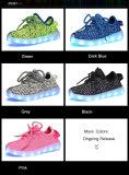 2016 chaussures chaudes des gosses DEL d'été de ventes avec le modèle caché de commutateur de DEL