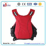Jaqueta salva-vidas de aviação de PVC de cor vermelha