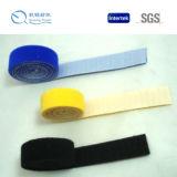 Gancho personalizado da cor da qualidade venda quente durável e gancho e laço materiais de nylon do olhar para o saco