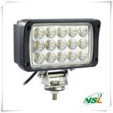 La luz del trabajo del cuadrado 45W, la viruta de 15PC*3W Epistar LED, los altos lúmenes 3825lm para el coche y las luces de trabajo del carro del camino impermeabilizan luces de IP67 LED
