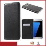 Задняя сторона обложки случая телефона бумажника PU кожаный с гнездами для платы для галактики S8 Samsung