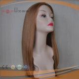 Volles Spitze-Menschenhaar-blonde Haut-Oberseite-Frauen-Perücke