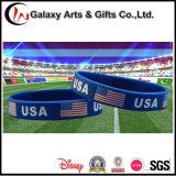 Qualitätsfördernder gedruckter Land-GummiStaatsflagge-SilikonWristband