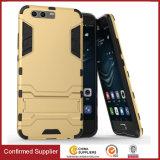 Caixa de venda quente do telefone de Kickstand do homem do ferro para Huawei P10 mais