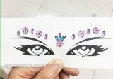 Etiquetas engomadas cristalinas del tatuaje de Eco de las etiquetas engomadas del Rhinestone de la cara del ojo decorativo cómodo del ojo (etiqueta engomada del ojo TS-514)