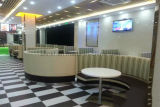 소파를 식사하는 Foshan Uptop 현대 가죽 대중음식점은 놓는다 (UL-LS069)