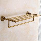 Flg de latón antiguo baño toalla de baño estante de baño Set