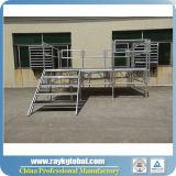 Etapa ajustable del aluminio al aire libre del funcionamiento