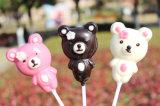 Regalo dulce del Lollipop del chocolate de la historieta para la tarjeta del día de San Valentín