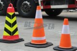 Kleurrijke Black Base EVA Plastic Traffic Safety Cone