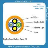 Câble d'intérieur rond duplex III de fibre optique pour l'usage de FTTX
