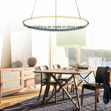 Una lampada Pendant moderna acrilica dell'anello LED