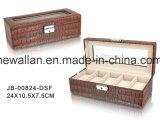 PUの革哨舎か箱を包む贅沢なハンドメイドのギフトの表示
