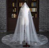 Brandnew длина собора вуаль цвета слоновой кости венчания в 3 метра с полными Appliques