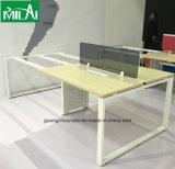 스테인리스 책상 다리를 가진 기능적인 사무실 테이블 가구