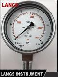 Tipo conetor de 072 Wika da parte inferior todo o calibre de pressão do St do St