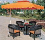 Handweaving Rattan-Tisch-Stuhl-Möbel im Freien