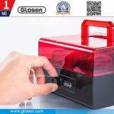 Caixa de armazenamento de selos com caixa de selagem bloqueável no escritório com alça