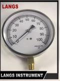 calibrador de presión del uso de la caja de acero inoxidable del proyecto 074 de 115m m