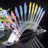 Présentoir acrylique noir de crayon lecteur de 12 crayons lecteurs