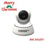 Cámara del IP del CCTV WiFi de la venta al por mayor 720p de la marca de fábrica de Toesee con audio de dos vías