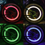 Atacado LED Tire Valve Caps A roda de bicicleta Spokes Light