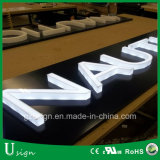 직업적인 LED 점화 3D 플라스틱 아크릴 알파벳 편지