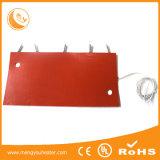 bateria da C.C. de 120V 110V e calefator elétrico flexível impermeável da borracha de silicone