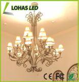 Bombilla de la vela blanca lechosa del shell LED con E26 6W