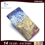 Бумажник владельца карточки изготовленный на заказ бумажника зажима деньг изображения реальный кожаный