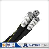 cabo aéreo do pacote do cabo de alumínio do ABC 0.6/1kv com iluminação de rua