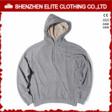 Plain Embroidery Blank Pullover 100% Algodón Hoodie Negro (ELTHSJ-1175)