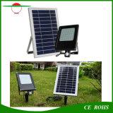 El panel solar solar 6V 6W de la luz de inundación del sensor de movimiento de la luz 120LED PIR del jardín impermeabiliza el reflector con la batería 6000mAh
