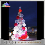 Helle Ce/RoHS im Freien beleuchtete Bäume der Metallrahmen-riesige Weihnachtsbaum-weiße rote Kugel-LED