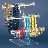 Visualizzazione acrilica libera dei monili della collana del braccialetto della T-Barra delle 2 file