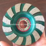 돌 거친 및 갈기를 위한 100mm 터보 다이아몬드 컵 바퀴