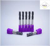 Cutoutil HRC45 TialnのコーティングD10*25*75  鋼鉄CNCの機械化の部品&#160のための2f/4f; Square 炭化物の端製造所のツール