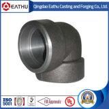 Кованая сталь ANSI B16.11 локоть 90 градусов типа заварки гнезда или продето нитку