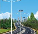 Integrierte Solar-LED-Garten-Straßen-Laterne mit justierbarem Sonnenkollektor