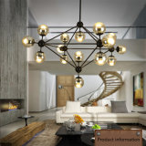 De moderne Lamp van de Tegenhanger van de Boon van de Bal van de Opslag van de Kroonluchter van de Woonkamer Magische