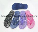 Новые Flops Flip повелительницы Вскользь конструкции продают оптом, тапочки с дешевыми ценами, сандалии Softable женщин картины смешивания (FFLT1017-03)